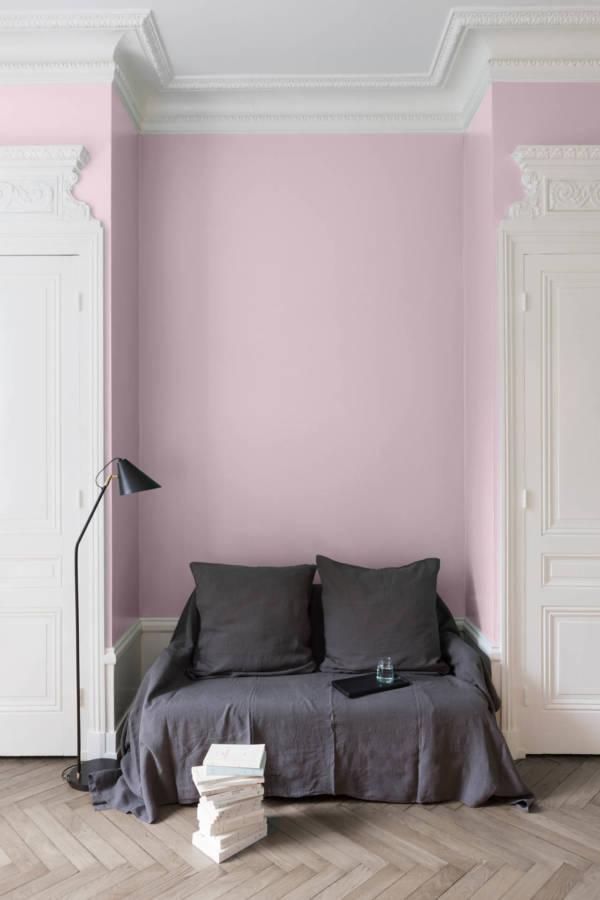 peinture-murale-Rose-Popeline