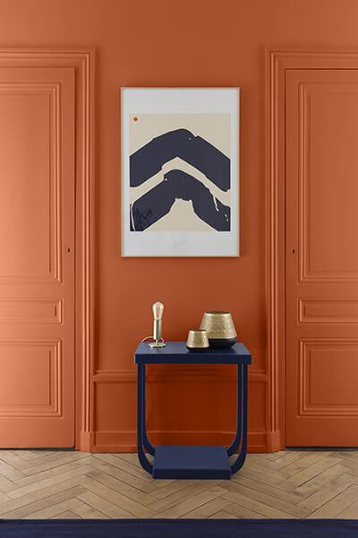 peinture-murale-salon-orange-sinagot-liberon